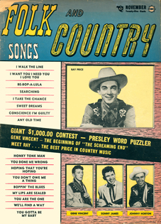 FOLK AND COUNTRY SONGS - November 1956